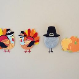 Felt turkey thanksgiving decorations