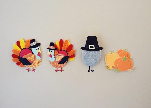 Felt turkey thanksgiving decorations