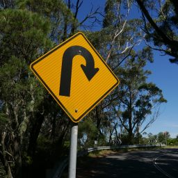 reverse traffic sign
